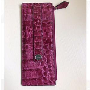 Lodis Pink Alligator Wallet